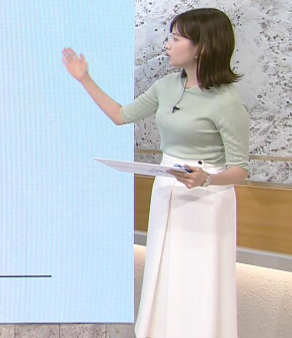 田中瞳アナ エロかわいいニット乳キャプ・エロ画像
