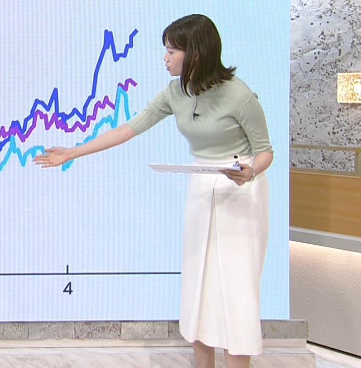 田中瞳アナ エロかわいいニット乳キャプ・エロ画像2