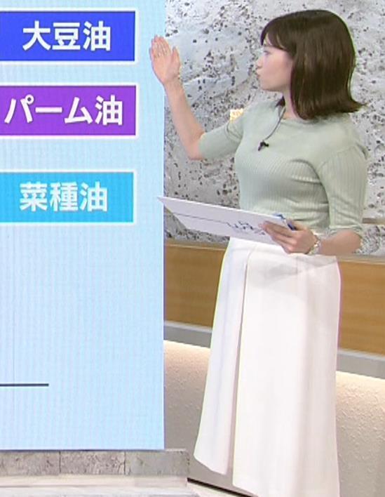 田中瞳アナ エロかわいいニット乳キャプ・エロ画像3