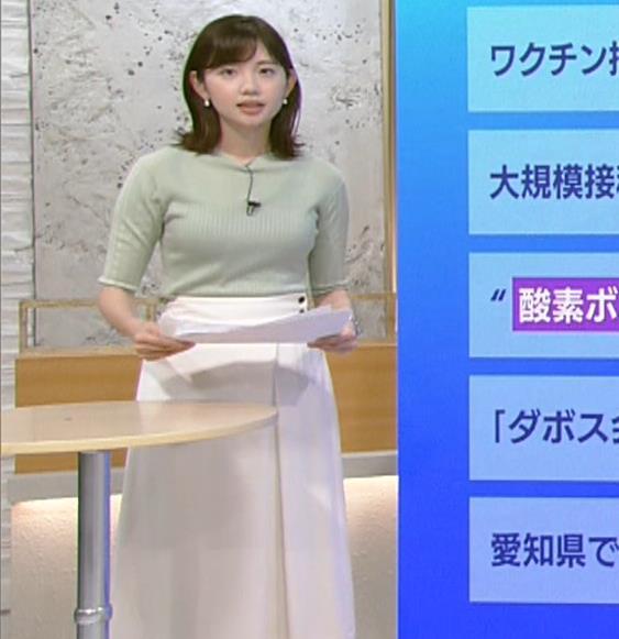田中瞳アナ エロかわいいニット乳キャプ・エロ画像4