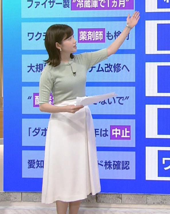 田中瞳アナ エロかわいいニット乳キャプ・エロ画像5