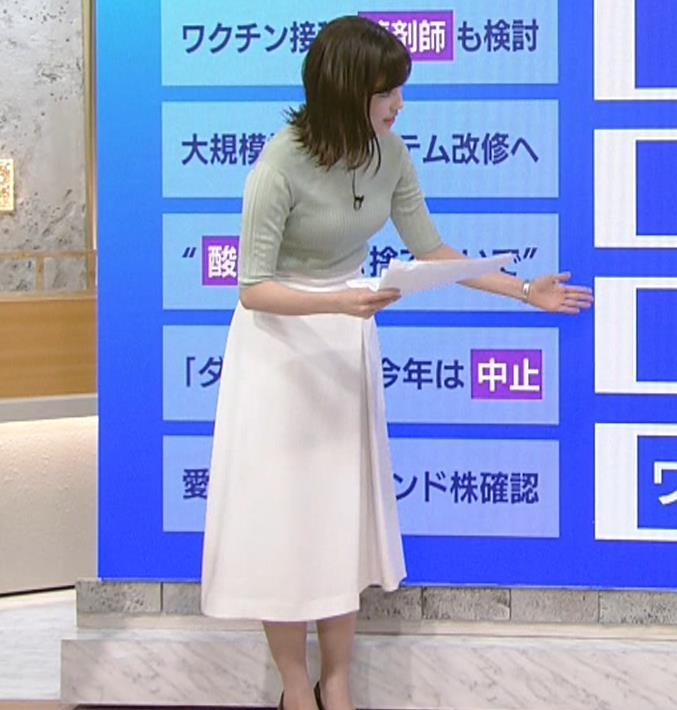 田中瞳アナ エロかわいいニット乳キャプ・エロ画像7