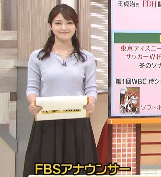 遠野愛アナ ローカルアナのニットおっぱいキャプ・エロ画像