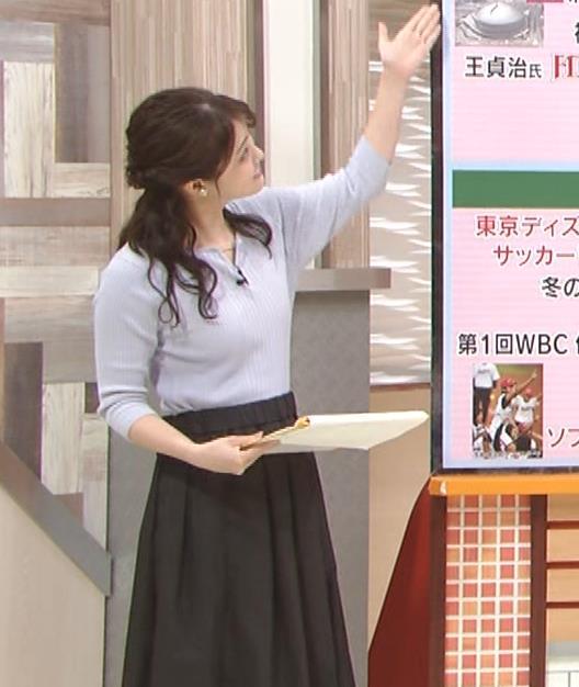遠野愛アナ ローカルアナのニットおっぱいキャプ・エロ画像3