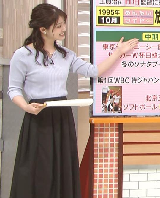 遠野愛アナ ローカルアナのニットおっぱいキャプ・エロ画像5