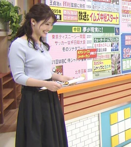 遠野愛アナ ローカルアナのニットおっぱいキャプ・エロ画像6