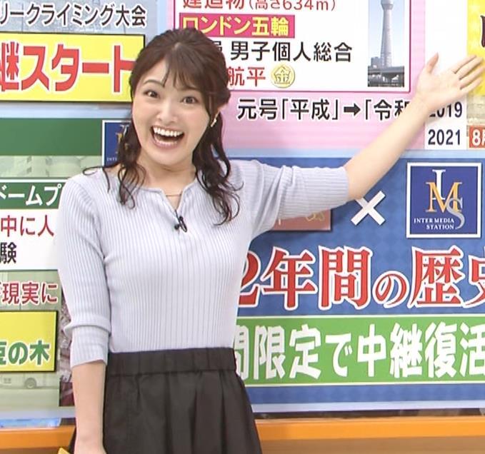 遠野愛アナ ローカルアナのニットおっぱいキャプ・エロ画像7