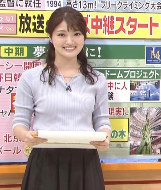 遠野愛アナ ローカルアナのニットおっぱいキャプ・エロ画像8