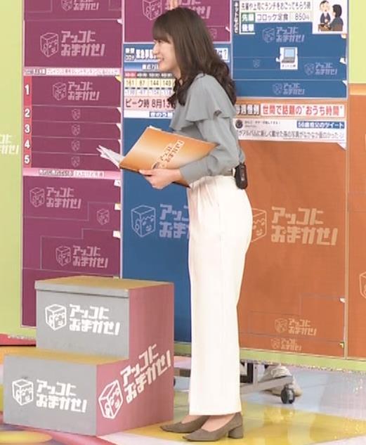 宇内梨沙アナ パンツスタイルのお尻キャプ・エロ画像