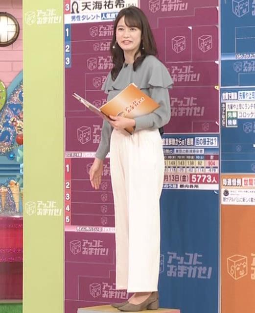 宇内梨沙アナ パンツスタイルのお尻キャプ・エロ画像4
