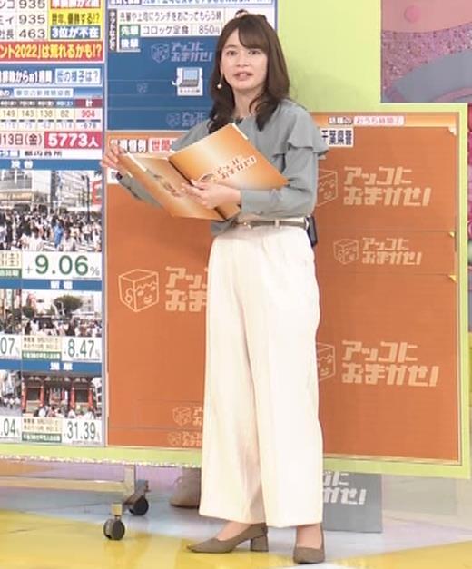 宇内梨沙アナ パンツスタイルのお尻キャプ・エロ画像7