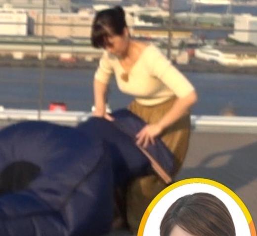 渡辺渚アナ ニットおっぱいキャプ・エロ画像3