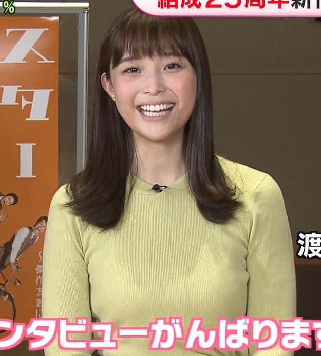 渡辺渚アナ 巨乳ニットでセクシーポーズキャプ・エロ画像