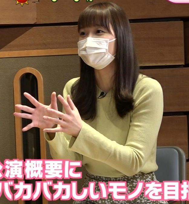 渡辺渚アナ 巨乳ニットでセクシーポーズキャプ・エロ画像3