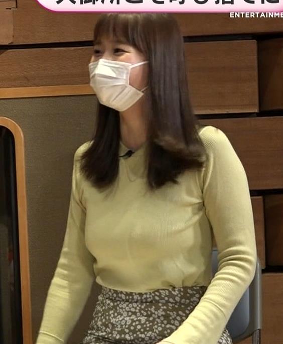 渡辺渚アナ 巨乳ニットでセクシーポーズキャプ・エロ画像6