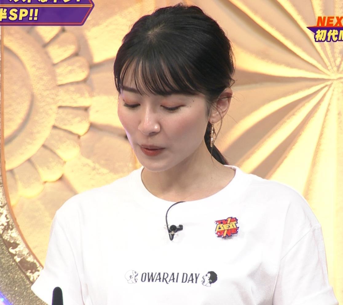 山本里菜アナ Tシャツ横乳キャプ・エロ画像