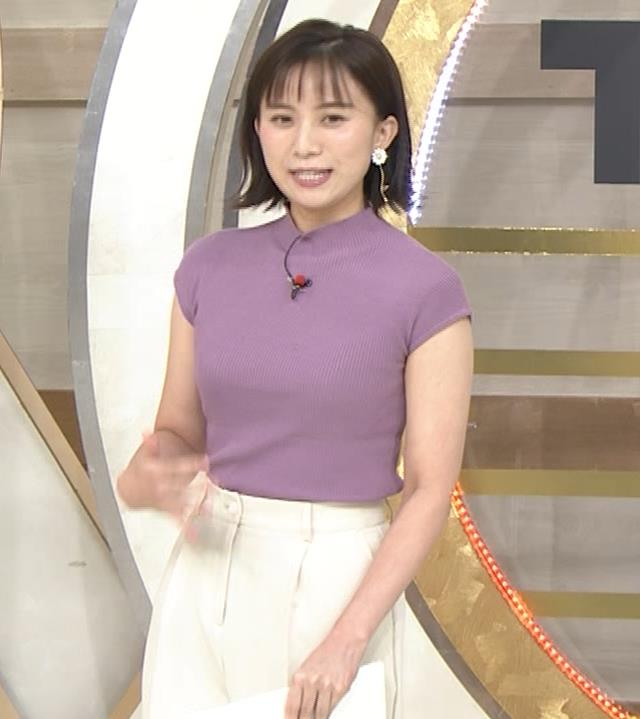 山本雪乃アナ ニット横乳キャプ・エロ画像