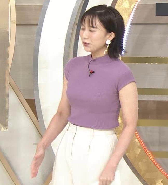 山本雪乃アナ ニット横乳キャプ・エロ画像3