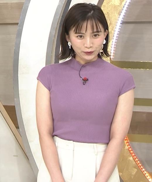 山本雪乃アナ ニット横乳キャプ・エロ画像7