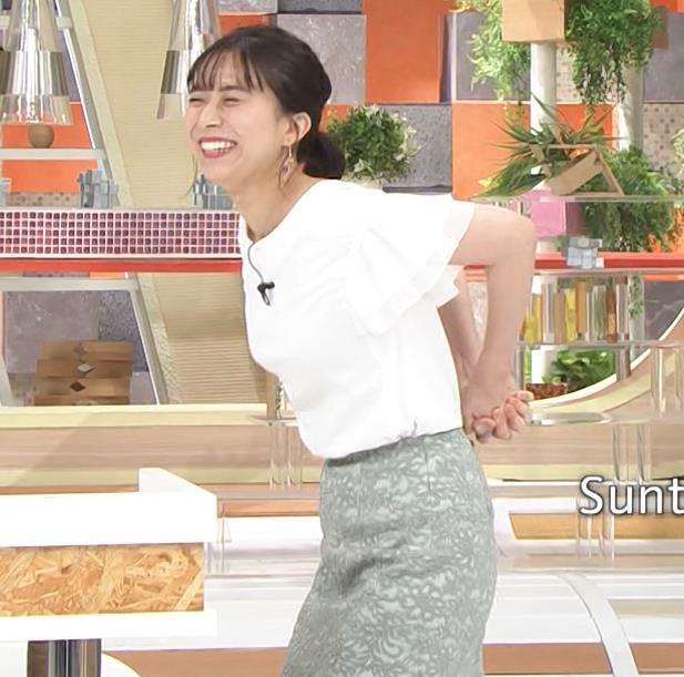 山本雪乃アナ ストレッチで横乳強調!!キャプ・エロ画像