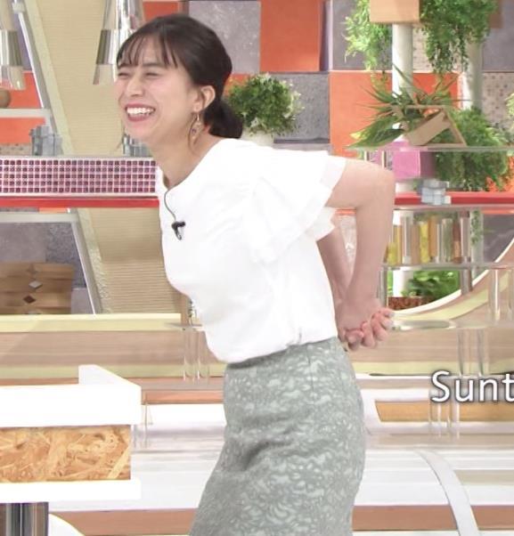 山本雪乃アナ ストレッチで横乳強調!!キャプ・エロ画像3