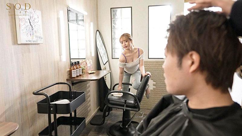人気エロカワ美容師ゆなさんは実はとんでもなくキス魔 お客様をべろちゅう誘惑ぐい 小倉由菜 2