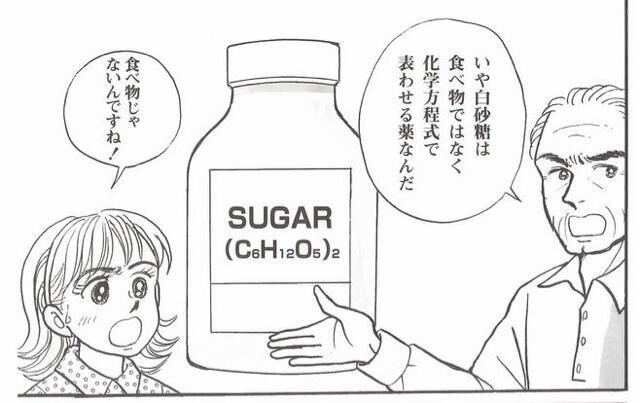 【画像】漫画家さん「砂糖は化学式で表せるから食べ物ではない」