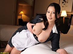 【無】北島玲 巨乳客室係りが俺の部屋でオナニーしてた!