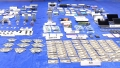 大麻密売グループの押収品